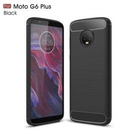 Armor Brushed TPU Hoesje Motorola Moto G6 Plus - Zwart