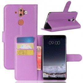 Book Case Hoesje Nokia 8 Sirocco - Paars