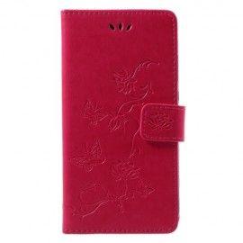 Book Case Hoesje Bloemen Huawei P Smart - Roze