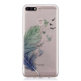 Design TPU Hoesje Huawei Y7 (2018) - Feather
