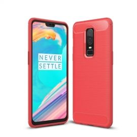 Armor Brushed TPU Hoesje OnePlus 6 - Rood
