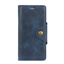 Luxe Book Case Samsung Galaxy A6 Plus (2018) - Blauw