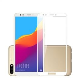 Full-Cover Tempered Glass Huawei Y6 (2018) - Wit
