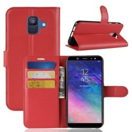 Book Case Hoesje Samsung Galaxy A6 (2018) - Rood