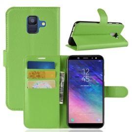 Book Case Hoesje Samsung Galaxy A6 (2018) - Groen