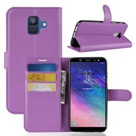 Book Case Hoesje Samsung Galaxy A6 (2018) - Paars