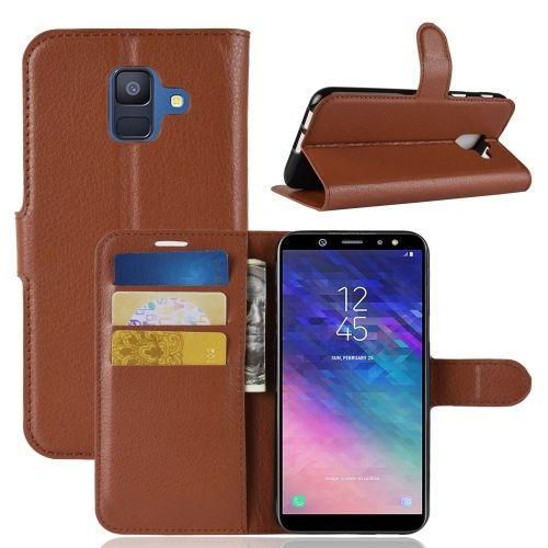 Book Case Hoesje Samsung Galaxy A6 (2018) - Bruin