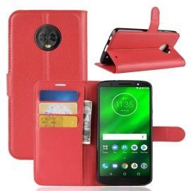 Book Case Hoesje Motorola Moto G6 Plus - Rood