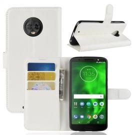 Book Case Hoesje Motorola Moto G6 - Wit