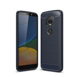 Armor Brushed TPU Motorola Moto E5 Plus Hoesje - Blauw