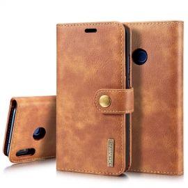 2-in-1 Book Case Huawei P20 Lite Hoesje - Bruin