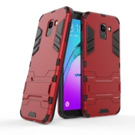 Armor Kickstand Samsung Galaxy J6 (2018) Hoesje - Rood