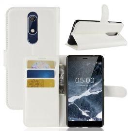 Book Case Nokia 5.1 Hoesje - Wit