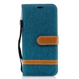 Denim Book Case Samsung Galaxy A6 (2018) Hoesje - Groen