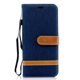 Denim Book Case Samsung Galaxy A6 (2018) Hoesje - Blauw