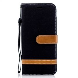 Denim Book Case Samsung Galaxy J6 (2018) Hoesje - Zwart