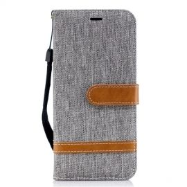 Denim Book Case Samsung Galaxy J6 (2018) Hoesje - Grijs