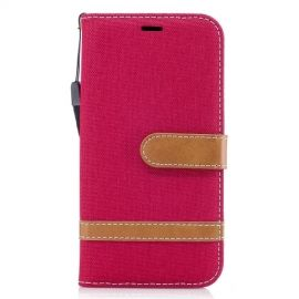 Denim Book Case Samsung Galaxy J3 (2017) Hoesje - Rood