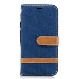 Denim Book Case Samsung Galaxy J3 (2017) Hoesje - Blauw