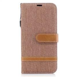 Denim Book Case Samsung Galaxy J5 (2017) Hoesje - Khaki