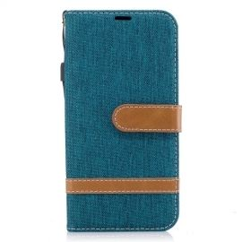Denim Book Case Samsung Galaxy J5 (2017) Hoesje - Groen