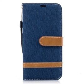 Denim Book Case Samsung Galaxy J5 (2017) Hoesje - Blauw