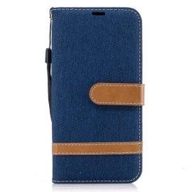 Denim Book Case Samsung Galaxy J5 (2017) Hoesje - Blauw