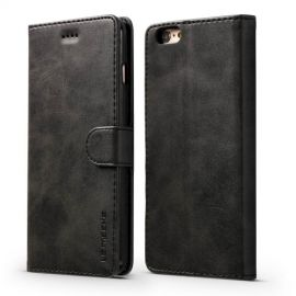 Luxe Book Case iPhone 6 / 6s Hoesje - Zwart