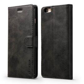 Luxe Book Case iPhone 6 / 6s Hoesje - Zwart