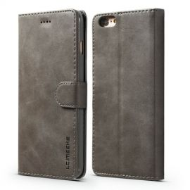 Luxe Book Case iPhone 6 / 6s Hoesje - Grijs