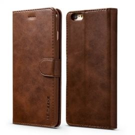Luxe Book Case iPhone 6 / 6s Hoesje - Donkerbruin