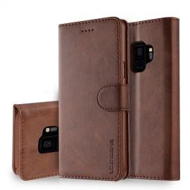 Luxe Book Case Samsung Galaxy S9 Hoesje - Donkerbruin