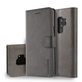Luxe Book Case Samsung Galaxy S9 Plus Hoesje - Grijs