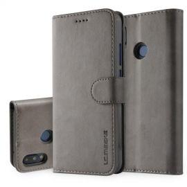 Luxe Book Case Huawei P20 Lite Hoesje - Grijs