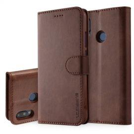 Luxe Book Case Huawei P20 Lite Hoesje - Donkerbruin