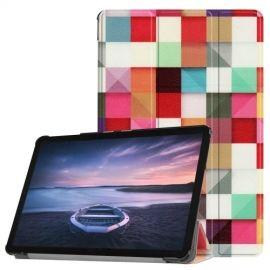 Smart Book Case Samsung Galaxy Tab S4 10.5 Hoesje - Squares