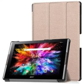 Tri-Fold Book Case Acer Iconia Tab 10 A3-A50 Hoesje - Rose Gold