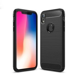 Armor Brushed TPU iPhone Xr Hoesje - Zwart