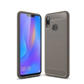Armor Brushed TPU Huawei P Smart Plus Hoesje - Grijs