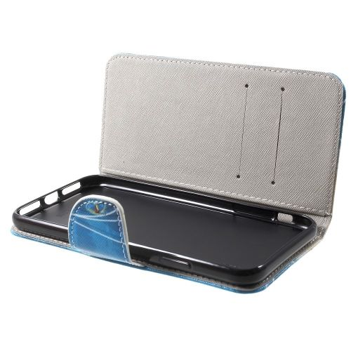 Book Case iPhone Xr Hoesje - Blauwe Vlinder