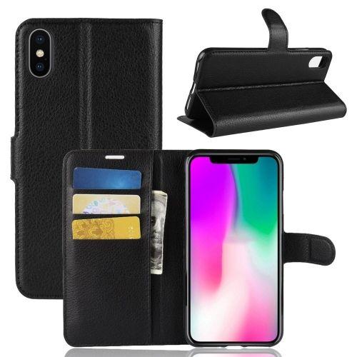 Book Case iPhone Xr Hoesje - Zwart