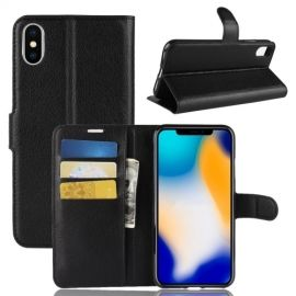 Book Case iPhone Xs Max Hoesje - Zwart