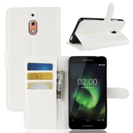 Book Case Nokia 2.1 Hoesje - Wit