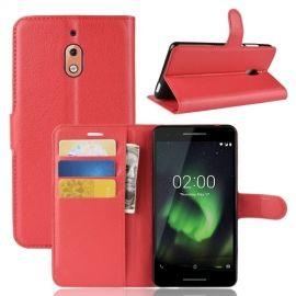 Book Case Nokia 2.1 Hoesje - Rood
