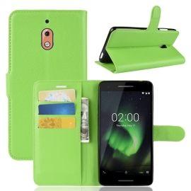 Book Case Nokia 2.1 Hoesje - Groen