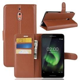Book Case Nokia 2.1 Hoesje - Bruin