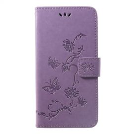Book Case Bloemen Huawei P Smart Plus Hoesje - Paars