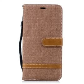 Denim Book Case iPhone Xs Max Hoesje - Khaki
