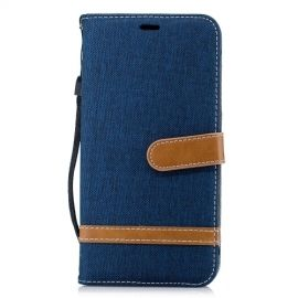Denim Book Case iPhone Xs Max Hoesje - Blauw