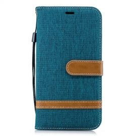 Denim Book Case iPhone Xr Hoesje - Groen